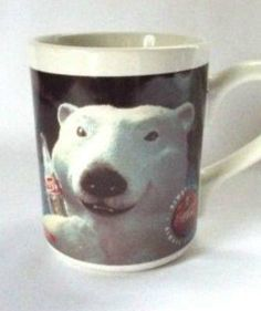 Coca Cola Mug Coffee Mug Cool Polar Bear Winter Soda Advertising Vintage