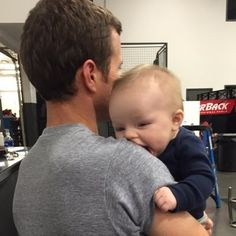 Kasey Kahne and his son Tanner