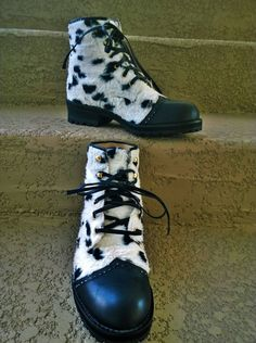 Gianni Versace Versus Faux Fur Boots by loveusati on Etsy