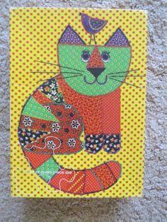 COMPLETE Vtg 1973 Calico Cat Kitten HALLMARK Springbok Jigsaw Puzzle 48 pieces #Springbok