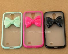 cute bow Samsung Galaxy S4 case Samsung Galaxy S2 S3 by belindawen, $9.99