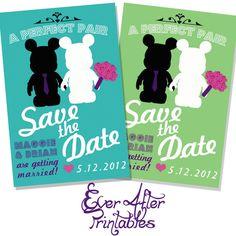 disney wedding invites...omg @Holly Hanshew Hanshew Elizabeth  these are awesome!!!