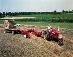 Baling hay, the IH way. Historical Image | Wisconsin Historical Society