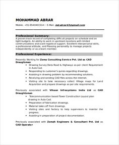 Draftsman Sample Resumes 71 Simple Resume Templates  Hloom  Resumes  Pinterest