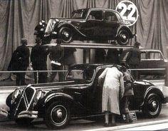 Citroën 22 V8 présentée au Salon de l'Auto à Paris en octobre 1934. Jamais commercialisée le projet fut abandonné en 1935 et les prototypes détruits!