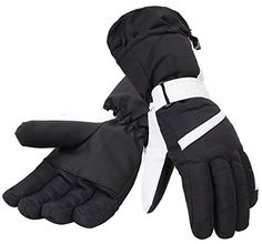 Simplicity Womens Thinsulate Lined Waterproof Outdoor Ski Gloves S Black -- Click on the image for additional details.