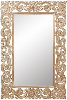 Padma Mango Wood Carved Mirror - Wall Mirrors - Home Decor   HomeDecorators.com