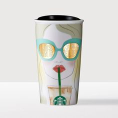 Los Angeles Double Wall Traveler. A double-walled ceramic travel mug that shows you how to stay cool in Los Angeles.
