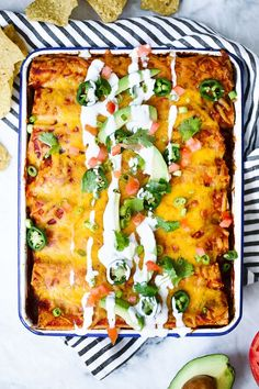 If you're an enchilada lover like me, you will love these!! Chicken enchiladas are always my dish of choice when I go out for Mexican and this recipe is as good as any recipe you'll find in a restaurant (if not better) only much lighter!