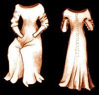 Medieval Clothing and Footwear- 14th- 15th Century Women's Lancelot du Lac Cotehardie