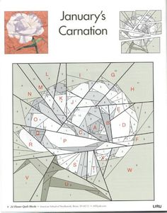 Carnation paper-piece pattern