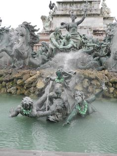 Bordeaux , France/An unbelievably magnificos Termin fountain!  You have to be there to truly appreciate it!!
