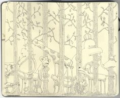 Incredible Illustrations from Mattias Adolfsson's Sketchbook | Queness