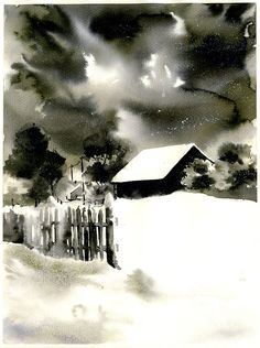 I paint all kinds of subjects: architecture, nature, landscapes, portraits, still natures. All my works are for sale. If you have a specific request I can paint it for you. Watercolor Projects, Watercolor Techniques, Watercolor Landscape, Watercolor And Ink, Watercolour Painting, Art Techniques, Watercolors, Art And Hobby, Painting Snow
