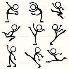 Stick Figure People dance ballet vector art illustration dance S Doodle Sketch, Doodle Drawings, Doodle Art, Easy Drawings, Cartoon Faces, Cartoon Drawings, Doodle People, Stick Figure Drawing, Dancing Figures