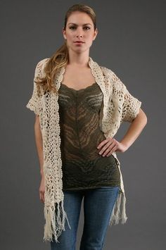 Sena Crochet Wrap