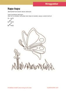 kerajinan anak, petunjuk langkah menggambar kupu-kupu untuk anak SD