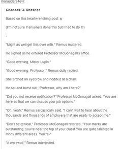 The Marauders - Remus Lupin and professor McGonagall part 1
