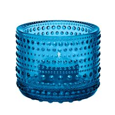 The Kastehelmi Collection from Iittala is adorned with beads of glass that add sparkle and texture to each charming piece. Elegant with a vintage feel, this Kastehelmi Tealight Candle Holder will brighten any space with its glistening style. Glass Votive, Tealight Candle Holders, Votive Candles, Tea Light Candles, Tea Lights, Blue Dinner Plates, Bubble Style, Blue Topaz Ring, Tea Light Holder