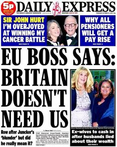 EU boss admits, Britain does NOT need the EU...!!!