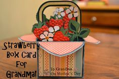 Scrapping Under the Influence: A Strawberry Box Card @svgcuts #boxcard #mothersday #cards #svgcuts
