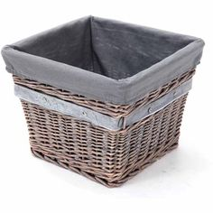 Buy Better Homes and Gardens Large Willow Tapered Basket, Grey at Walmart.com