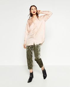 VELVET CARROT TROUSERS-View all-TROUSERS-WOMAN | ZARA United States