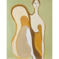 Mini version of We Are Green & Gold 🌙 These girls remind me of swans 🦢✨ . . . . . #womanart #womeninart #artistsoninstagram #artforthehome… Swans, These Girls, Green And Gold, Female Art, Stuart Weitzman, Oil, Paper, Artist, Women