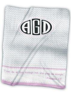 Monogram 6 Fleece Blanket