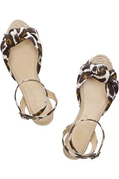 charlotte olympia canvas sandals