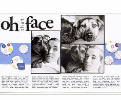 Puppy faces scrapbook page