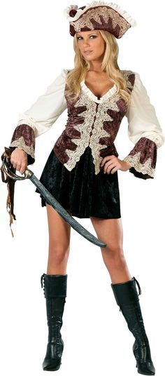 Womens Sexy Plus Size Swashbuckler Pirate Halloween Costume (Size - halloween costume ideas plus size