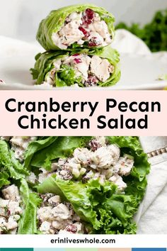 Cranberry Pecan Chicken Salad is a must-try recipe that makes the perfect filling for wraps and sandwiches. It's made with cranberries, red onion, celery, and loads of flavor components!