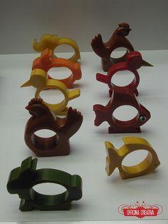 Bakelite napkin rings