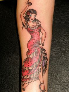 Tattoo Tattoos Flamenco Dancer Beautiful Woman Pictures