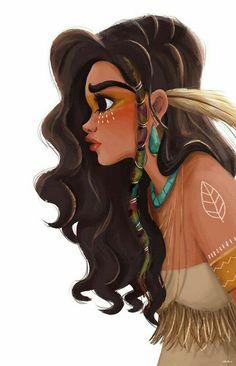 New Ideas drawing disney characters princesses pocahontas Pocahontas Drawing, Disney Pocahontas, Princess Pocahontas, Moana Disney, Disney Characters Pictures, Drawing Cartoon Characters, Cartoon Drawings, Cool Drawings, Disney Drawings