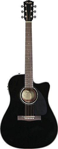 Fender CD-140SCE Dreadnought Cutaway Acoustic-Electric Guitar – Black           $ 299.99 Acoustic-Electric Guitars Product Features Solid Spruce Top, Laminated Mahogany Back and Sides Scalloped X Bracing Fishman® Presys(TM) Pickup System with Active On-Board Pre-Amp and Tuner Rosewood Bridge with Compensated Saddle and chrome die cast tuning keys Additional Features: Dual Action Truss Rod, Black Pickguard, 3mm Dot Position Inlays, MOP Rosette, MOP Inlaid Headstock […]  http..