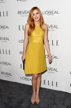 Bella Thorne wore a Gucci dress from the F/W 14 collection at ELLE's 21st Annual Women in Hollywood Awards.