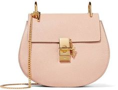 Chloé - Drew Small Textured-leather Shoulder Bag - Blush Such a Big statement in an elegant way!