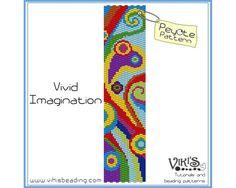 Peyote bracelet pattern Vivid Imagination by VikisBeadingPatterns