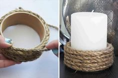 handmade-rope-wrapped-candle-holder.jpg (600×399)