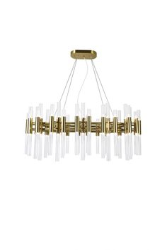 72 Light Chandelier with Brass Finish Home Hardware, The Perfect Touch, Chandelier Lighting, Brass, Ceiling Lights, Beautiful, Home Decor, Beauty, Collection