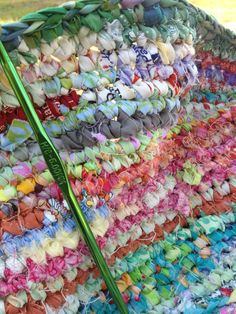 Color crochet from fabric selvedges
