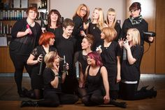 Hair Salon Group Shot.....With A Difference!
