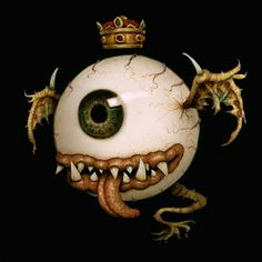 Fiendish Royal Eyeball, Pop Art Illustration, by Naoto Hattori.