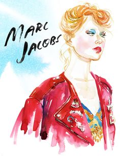 S/S 2016 #fashion #illustrationMarc Jacobs