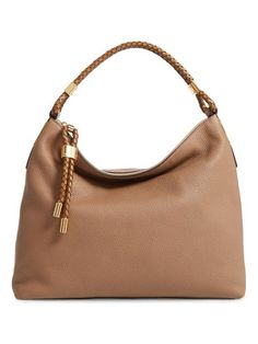 6b9209470ff2 ... Collection Skorpios Large Leather Shoulder Bag. See more. Michael Kors  'large skorpios' leather hobo Handbags Michael Kors, Prada Handbags, Cheap