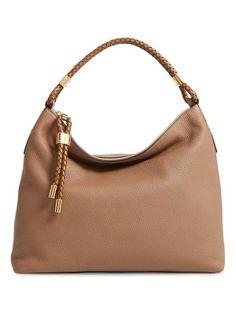 b0a2b663220c Michael Kors  large skorpios  leather hobo Nude Shoulder Bags