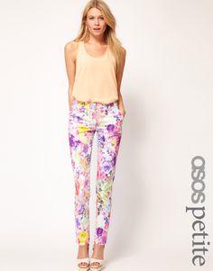 Yesss. Get in my closet. ASOS Petite floral print pants