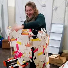 Ailish getting fully hands on making creative lampshades for at the Lampshades, Interior Architecture, Gift Wrapping, Hands, Concept, Creative, How To Make, Instagram, Leipzig